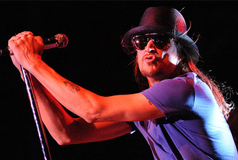 Kid Rock during a concert.